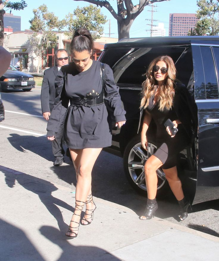 Keeping Up With Kimye — Kim & Larsa Pippen out for dinner at Katsuya in...