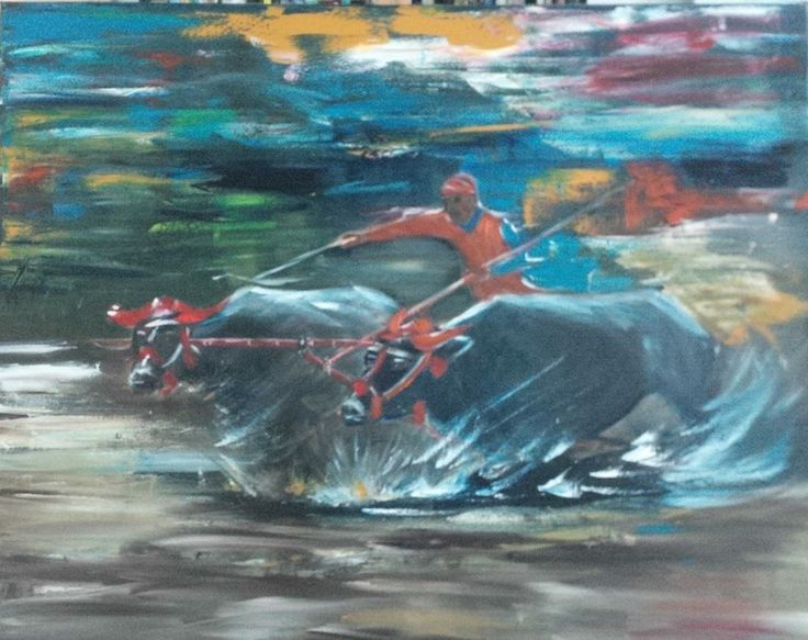 Karapan Sapi   Indonesian Bull Racing to celebrate end of rice harvest.