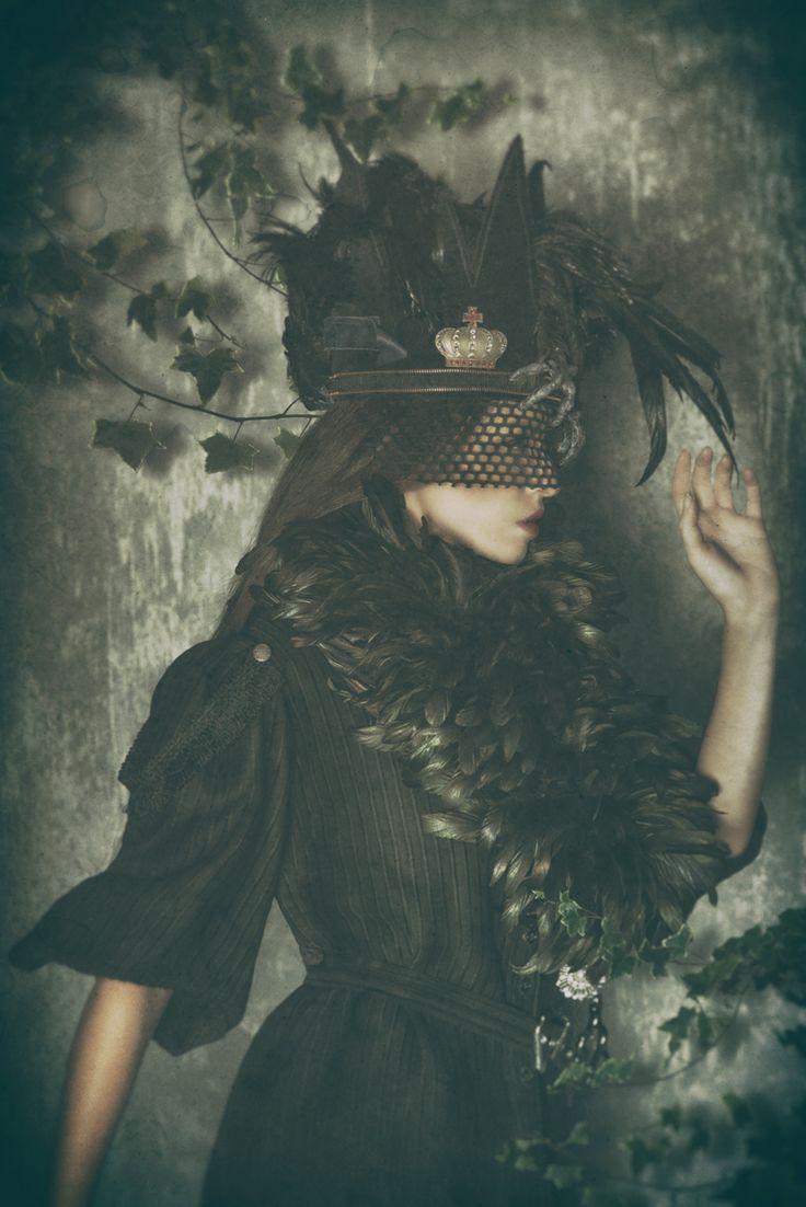 """Lark"" — Photographer/Stylist/Designer/Headpiece: Topher Adam Lighting: Tim Engle Model: Christine Alward"