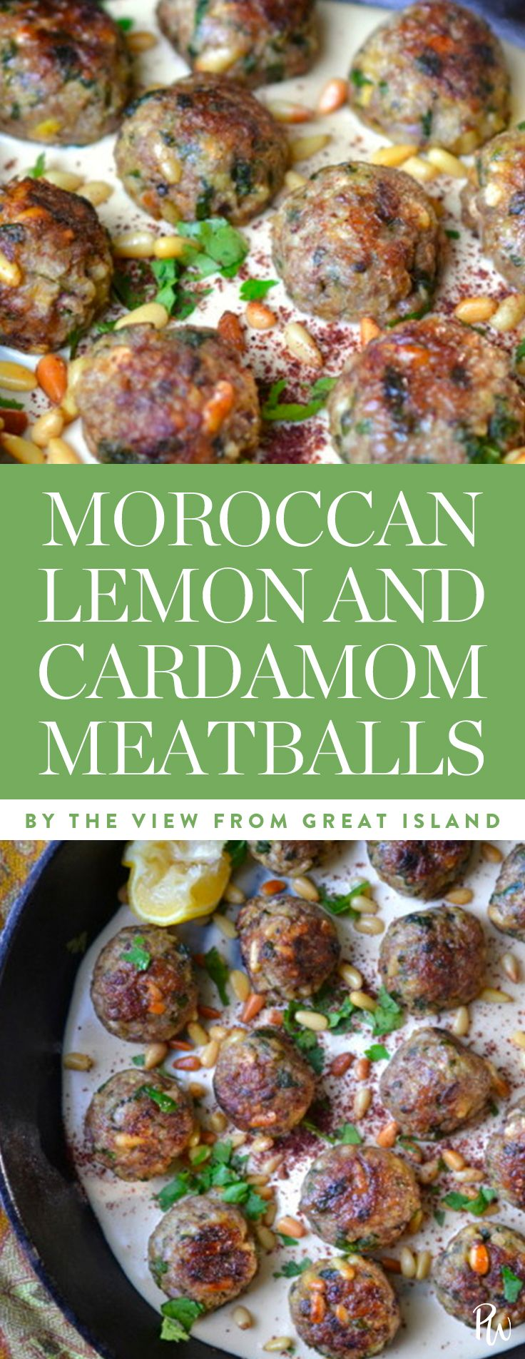 Moroccan Lemon Cardamom Meatballs by The View From The Great Island. 16 Moroccan-Inspired Recipes to Spice Things Up. #moroccanrecipes #moroccanfood #spicy #healthyrecipes #northafricanfood #dinnerrecipes #meatballs #moroccanmeatballs