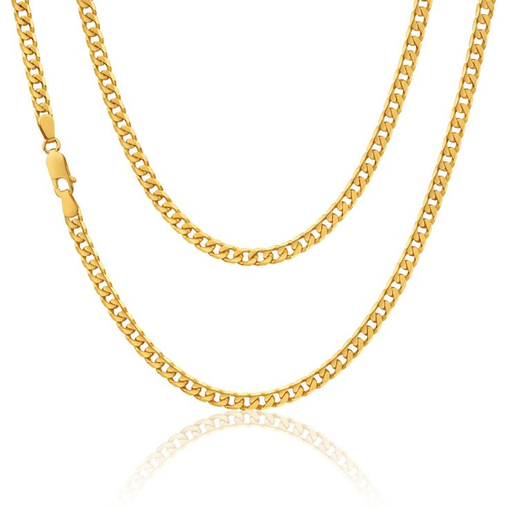 9ct yellow Gold Curb Chain weighing 13.4 grams approx    9ct Gold 375 hallmarked and made in the United Kingdom     Length      18 inches  Width       5mm approx  Weight     13.4 grams approx