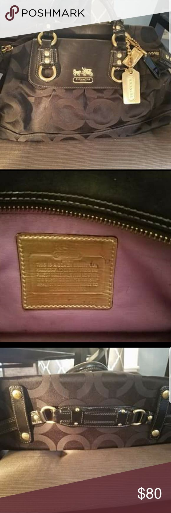 Coach Madison Sabrina satchel With gold embelleshments. Lightly used, only a handful of times. Accepting offers and trades! Coach Bags Satchels