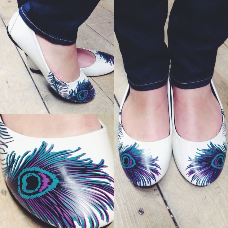 These flats are to die for! #blamebetty #peacock #shoes