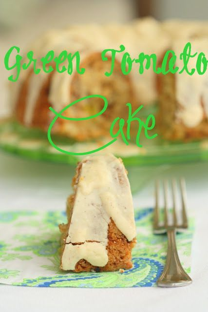 Green Tomato Cake -- Can't waste food! It can't hurt to try...