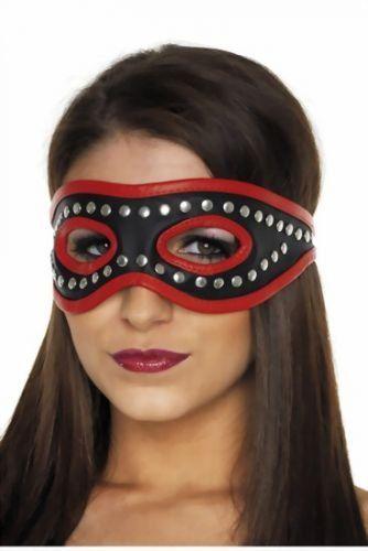 Blindfolds Leder - Damen Augenbinde - offen mit Nieten verziert