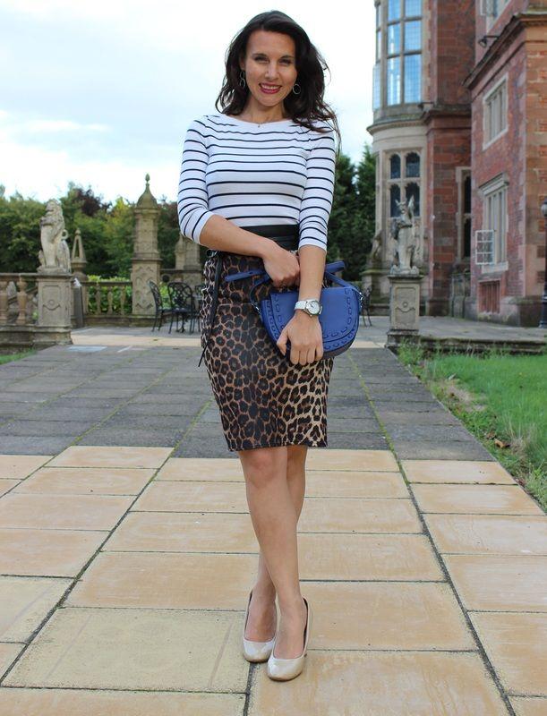 Leopard Pencil Skirt + Stripes / Leopard Bleistiftrock + Streifen / Saia Lápis de oncinha + Listras