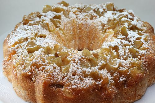 Jessie's Apple Cake recipe filled with apples, nuts, and spices for delightful fall treat.