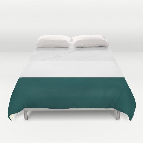 marble and teal duvet cover