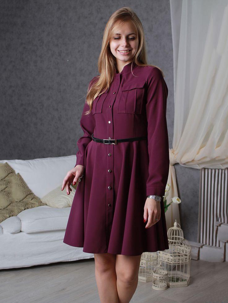 Платье цвета фуксии - VSV - 3050035
