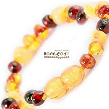 This amber anklet might assist your baby with teething or eczema.This amber anklet is a great alternative to slip on underneath clothing while your child is sleeping and can be purchased as a matching set with your amber necklace. Slightly larger than the bracelet this amber anklet is designed to be worn and not chewed. Each amber anklet has been carefully handcrafted with your babies safety in mind. Each amber bead is carefully rounded and polished to be comfortable against your childs…