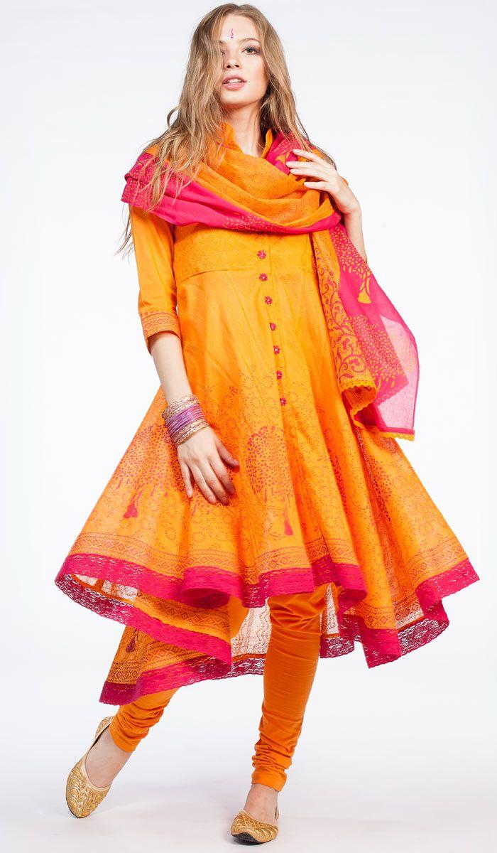 Панджаби оранжевое, сальвар камиз,национальная индийская одежда, одежда из Индии, Punjabi, salwar kameez, indian clothes, India. 15 800 рублей