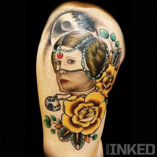 Princess Leia tattoo by Vinny Romanelli   #InkedMagazine # ...
