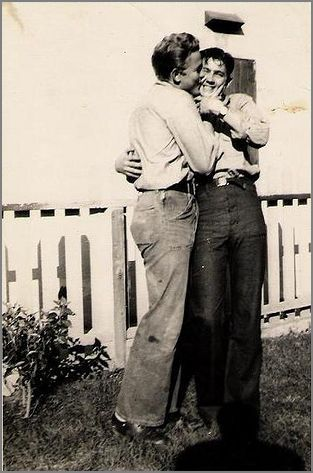Vintage male couple before Stonewall, way before Stonewall.