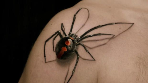 Through clever shadows and detail work, these tattoos look 3-D. Of course, a gross tattoo looks even grosser in 3-D.