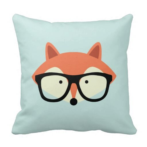 Red Fox Pillow for your fox themed nursery. Cute on a rocking chair!