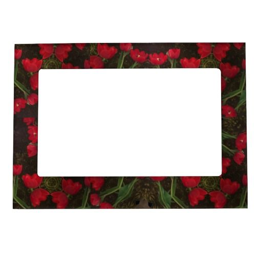RomanceMe Red Tulips Magnetic Frame Magnetic Picture Frames