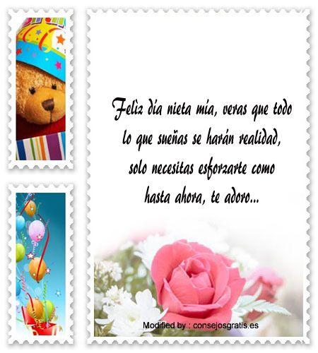 nuevas frases de cumpleaños para mi nieta, originales frases de cumpleaños para mi nieta: http://www.consejosgratis.es/frases-de-cumpleanos-para-mi-nieta/