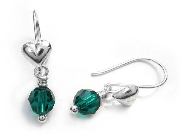 Birthstone Earrings - May Emerald