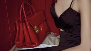 Campagna Miu Miu, red bag...