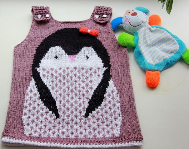 Ручная работа Платье - сарафан  Пингвиненок