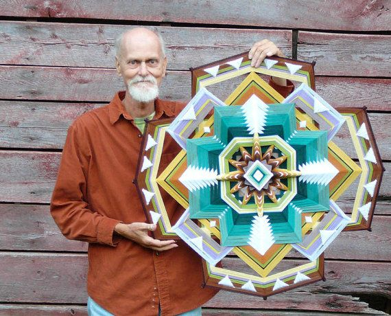 Dancing for God a 32 inch 12sided Ojo de Dios by JaysMandalas, $350.00