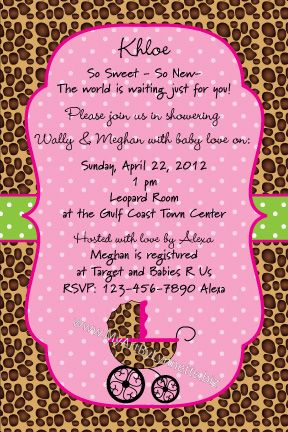 baby cheetah prints for baby lynnetteart sweet leopard baby shower invitation
