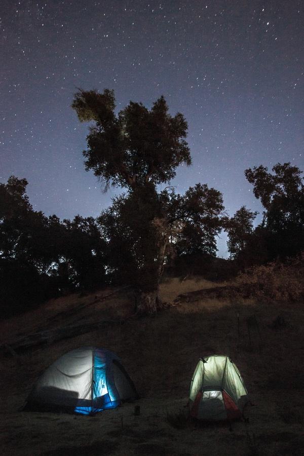Camping at Pinnacles National Monument, California. Photo by Dan Fletcher.