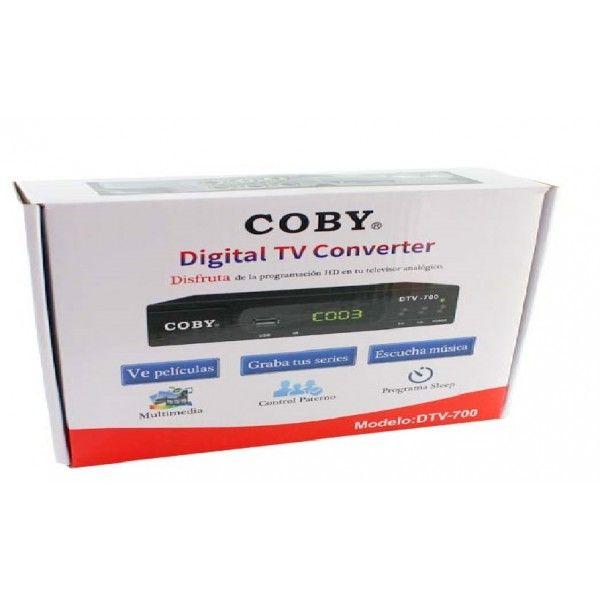 DECODIFICADOR DIGITAL A ANALÓGICO MARCA COBY MODELO DTV-700 ( CONVERTIDOR TV DIGITAL )