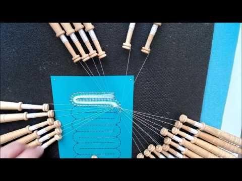 014 Encaje de Hinojosa - Cambio de Punto Zurcido Liso a Medio Punto - YouTube