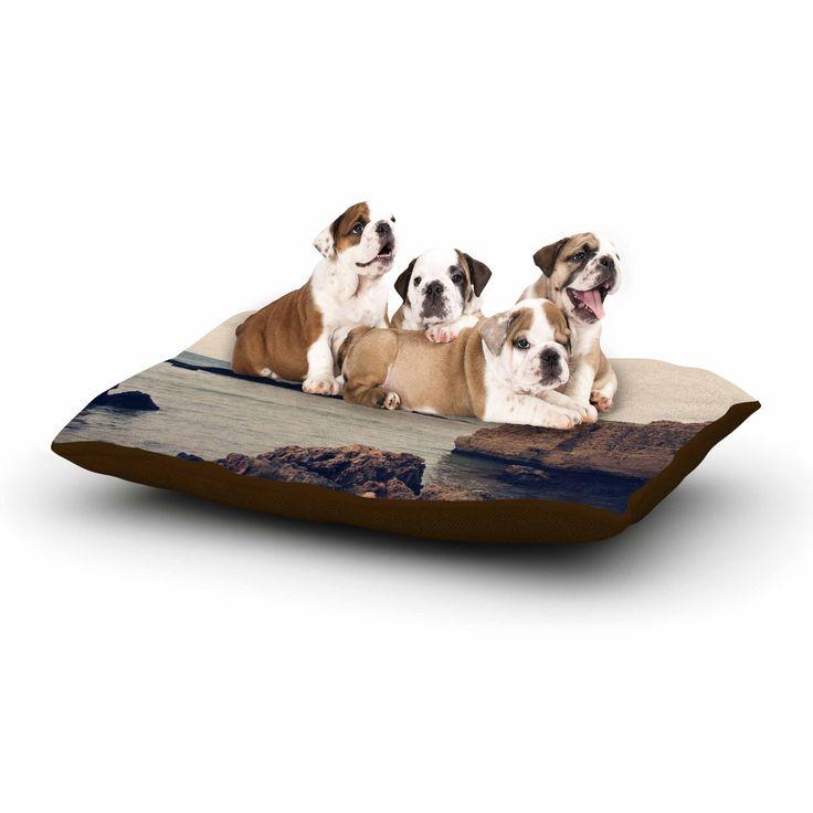 "Sylvia Coomes ""Mediterranean l"" Blue Brown Dog Bed"