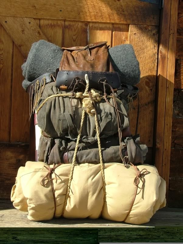 Primitive external pack frame