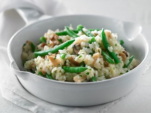 Extra Fine Green Bean and Mushroom Risotto