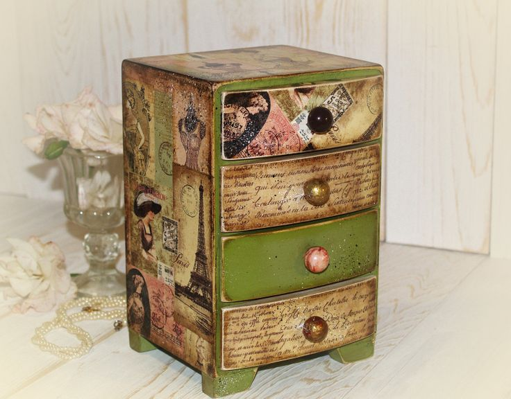 Cute Keepsake Box- HandmadeDecoupage