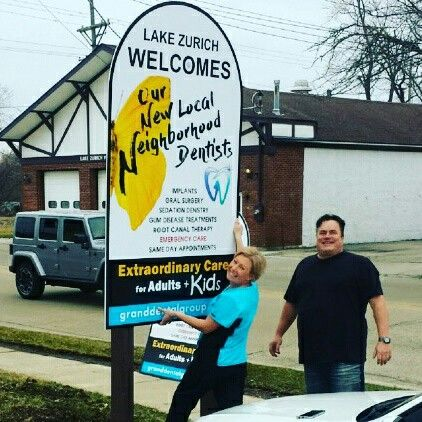 The new Grand Dental - Lake Zurich sign! #lakezurich #granddental