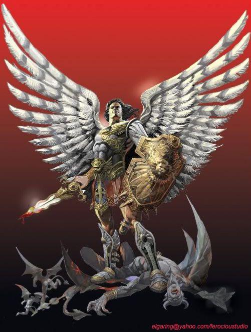 lucifer and archangel by elshazam on deviantART