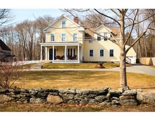 """8 South Street, Easton, MA 02375 — FIRST OPEN HOUSE - MARCH 27th, (5-7) PM!! """"TWILIGHT TOUR!"""" Only ONCE in a lifetime does a house like THIS come ALONG! As soon as you walk into this MODERNIZED 1900 Victorian, you will fall in LOVE with all the details! The COMPLETELY restored pine wood floors are the SHOW STOPPER in this home! The HIGH CEILINGS, FRENCH DOORS, EXPOSED BRICK, WINDOW SEAT, CROWN MOLDING, CATHEDRAL CEILINGS, RECESSED LIGHTING throughout, EXTRA WIDE baseboards, & RADIANT ..."""