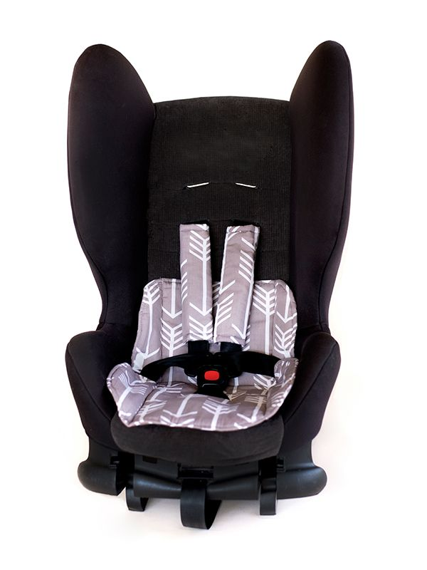 Car Seat Protector- Arrows Grey