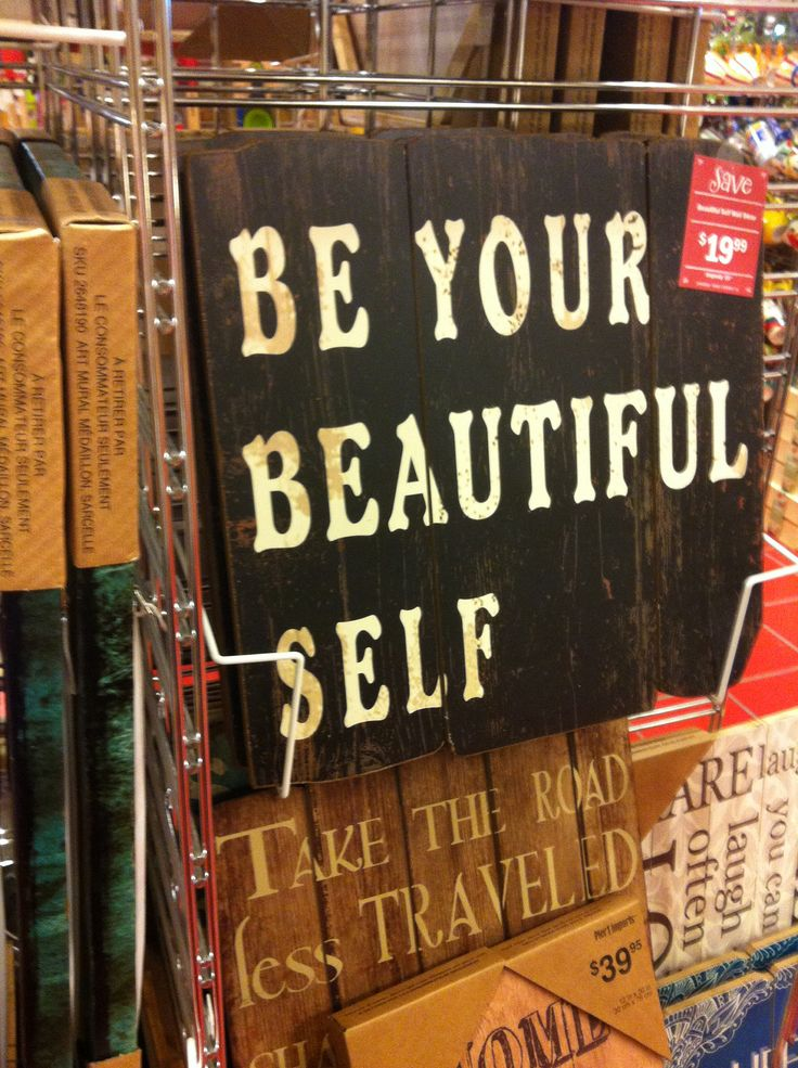 Be your beautiful self word art at pier one