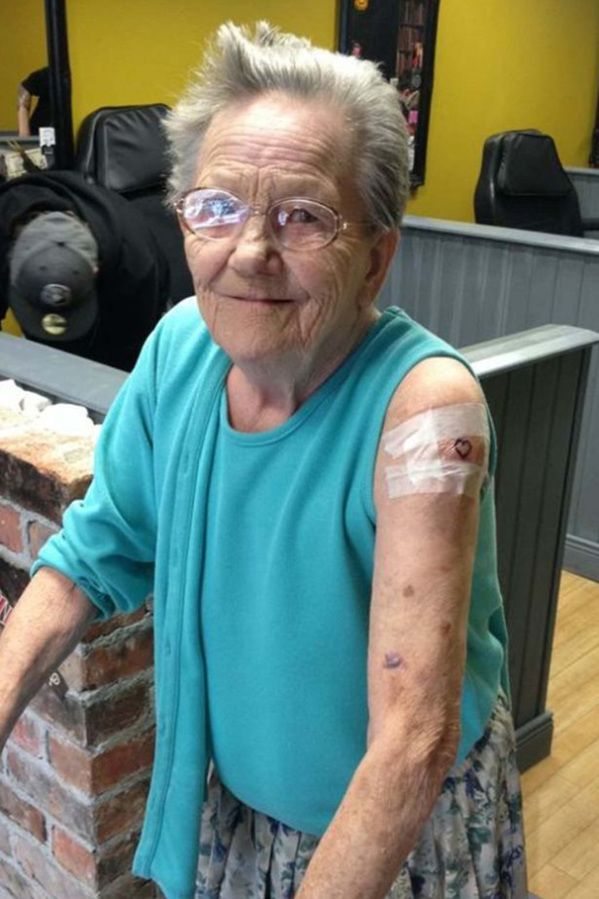 Grandma, 79, Escaped Senior Home, They Found Her Getting Her First Tattoo!