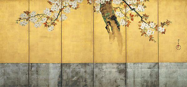 Sakai Hōitsu   Blossoming Cherry Trees   Japan   Edo period. Circa 1805. The Met. Rinpa style.
