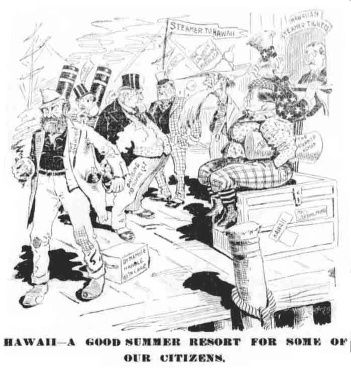 the overthrow of the hawaiian monarch in the 19th century With his rule, hawaii became a constitutional monarchy, modeled after europe although he accepted many western customs, he maintained kapu, the religious laws that governed hawaiian society the british empire, which would battle to hold its imperial ties in north america during the war of 1812, considered the islands to be a british.