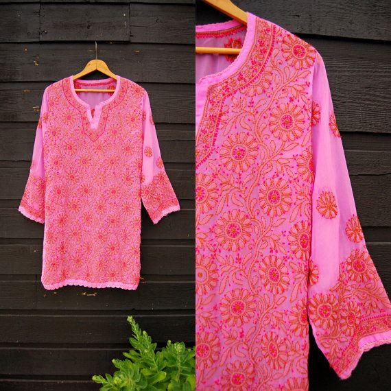 Hoi! Ik heb een geweldige listing op Etsy gevonden: https://www.etsy.com/nl/listing/399625877/vtg-boho-tuniek-top-pure-roze
