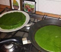 Crepes verdi di spinaci