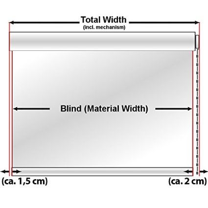 casa pura Dual Function Roller Blind, White - 45x150cm | 8 Sizes Available - Daylight Translucent, Night Time Blackout: Amazon.co.uk: DIY & Tools