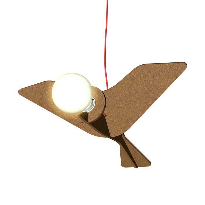 GET OUT BIRD - Lampada a sospensione nera