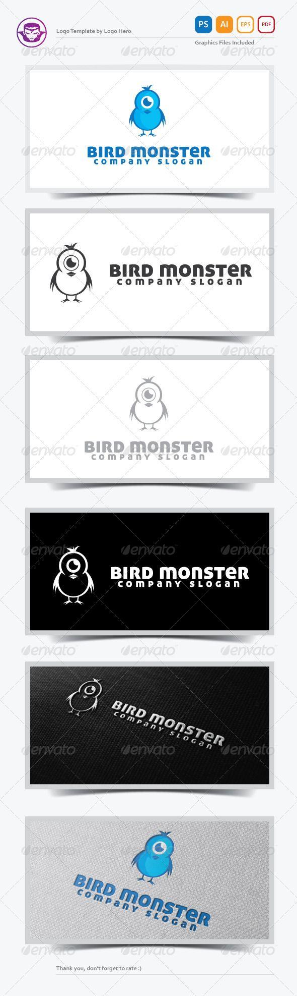 Bird Monster Logo Template The 840 best