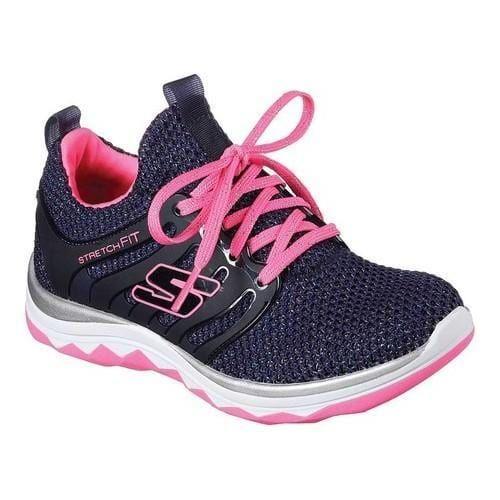 Girls' Skechers Diamond Runner Sparkle Sprints Sneaker Navy/Hot