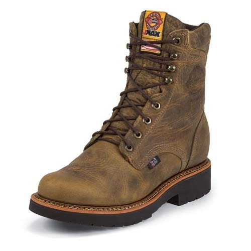 Justin Boots - Men's 8 - JMAX - Padded Collar - Round Toe - Made in the USA