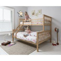 Hannah Triple Bed Bunk Bed In Natural · Dreifache EtagenbettenDoppelbetten