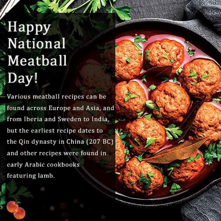 National Meatball Day! in 2020 Sauce pot, Meatballs, Recipes